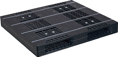NPC プラスチックパレットZR-110120E-RR 両面二方差し 黒【ZR110120ERRBK】 販売単位:1枚(入り数:-)JAN[-](NPC パレット) 日本プラパレット(株)【05P03Dec16】