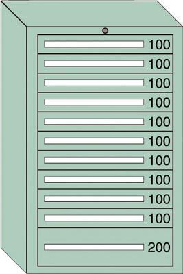 OS 重量キャビネットDX型 最大積載量1500kg 引出し10×1段【DX1217】 販売単位:1台(入り数:-)JAN[-](OS キャビネット) 大阪製罐(株)【05P03Dec16】