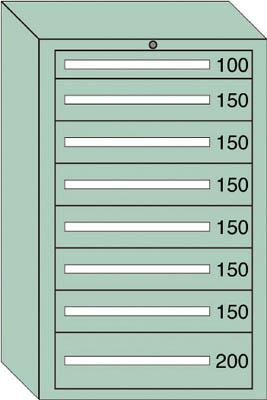 OS 重量キャビネットDX型 最大積載量1500kg 引出し1×6×1段【DX1219】 販売単位:1台(入り数:-)JAN[-](OS キャビネット) 大阪製罐(株)【05P03Dec16】