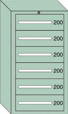 OS ミドルキャビネットMD型 最大積載量1200kg 引出し6段【MD1203】 販売単位:1台(入り数:-)JAN[-](OS キャビネット) 大阪製罐(株)【05P03Dec16】