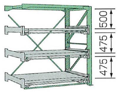 KDS スライドラックSSR10-2012-3FR【SSR1020123FR】 販売単位:1台(入り数:-)JAN[4954183310295](KDS 金型収納ラック) ムラテックKDS(株)【05P03Dec16】