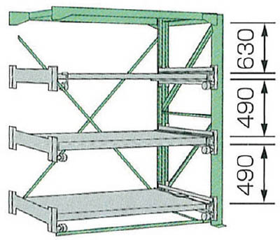 KDS スライドラックSSR10-2012-3HR【SSR1020123HR】 販売単位:1台(入り数:-)JAN[4954183310134](KDS 金型収納ラック) ムラテックKDS(株)【05P03Dec16】