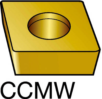 サンドビック コロターン107 旋削用ダイヤモンドポジ・チップ CD10【CCMW09T304FP(CD10)】 販売単位:5個(入り数:-)JAN[-](サンドビック チップ) サンドビック(株)【05P03Dec16】