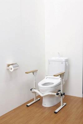 アロン 安寿洋式トイレ用フレーム S-はねあげR【533082】 販売単位:1個(入り数:-)JAN[4970210510513](アロン 手すり) アロン化成(株)【05P03Dec16】