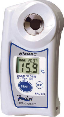アタゴ ポケット食塩水・融雪剤濃度計【PAL03S】 販売単位:1個(入り数:-)JAN[4560161230051](アタゴ 水質・水分測定器) (株)アタゴ【05P03Dec16】