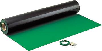 HOZAN 導電性カラーマット 1×10M グリーン 補強繊維入り【F79】 販売単位:1巻(入り数:-)JAN[4962772090794](HOZAN 静電気対策マット・シート) ホーザン(株)【05P03Dec16】