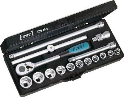 HAZET ソケットレンチセット(6角タイプ・差込角9.5mm)【880N1】 販売単位:1S(入り数:-)JAN[4000896040926](HAZET ソケットレンチセット) HAZET社【05P03Dec16】