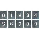 つくし 吹付プレート 数字(0~9) 10枚組 大サイズ【J91C】 販売単位:1組(入り数:10枚)JAN[4580284632006](つくし 安全標識) (株)つくし工房【05P03Dec16】