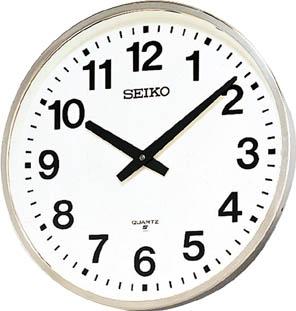 SEIKO 大型屋外防雨型オフィスクロック 直径450×78 金属枠【KH411S】 販売単位:1個(入り数:-)JAN[4517228007248](SEIKO 掛時計) セイコークロック(株)【05P03Dec16】