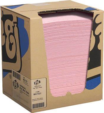 pig ハズマットピグマット ミシン目入り (100枚/箱)【MAT351A】 販売単位:1箱(入り数:100枚)JAN[-](pig 吸収材) エー・エム・プロダクツ(株)【05P03Dec16】