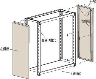 TRUSCO M2型棚用はめ込み式側板 300XH1800【GM263NG】 販売単位:1組(入り数:-)JAN[4989999738483](TRUSCO 中量棚) トラスコ中山(株)【05P03Dec16】