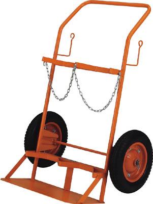 TRUSCO ボンベ台車 標準型 酸素・アセチレンボンベ二本積用【HT66N】 販売単位:1台(入り数:-)JAN[4989999681888](TRUSCO 二輪運搬車) トラスコ中山(株)【05P03Dec16】