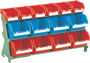 TRUSCO 片面卓上型コンテナラック H405 T2X6 T5X8【UJ421】 販売単位:1台(入り数:-)JAN[4989999669312](TRUSCO コンテナラック) トラスコ中山(株)【05P03Dec16】
