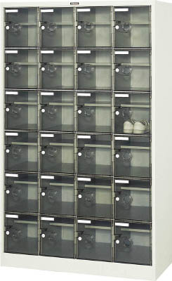 TRUSCO シューズケース 24人用 1050X380XH1700 棚付 透明【SC24WPC】 販売単位:1台(入り数:-)JAN[4989999763089](TRUSCO シューズボックス) トラスコ中山(株)【05P03Dec16】