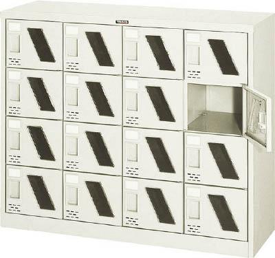 TRUSCO シューズケース 16人用 1050X380XH880 窓付【SC16WM】 販売単位:1台(入り数:-)JAN[4989999764178](TRUSCO シューズボックス) トラスコ中山(株)【05P03Dec16】