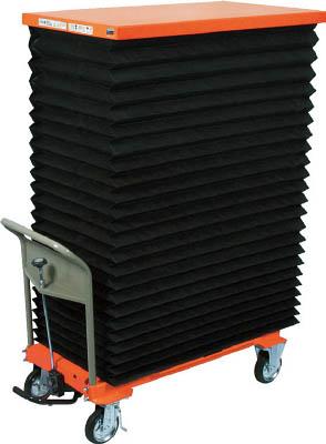 TRUSCO ハンドリフター 500kg 600X1050 蛇腹付【HLFE500J】 販売単位:1台(入り数:-)JAN[-](TRUSCO 移動式リフター) トラスコ中山(株)【05P03Dec16】