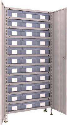 TRUSCO 軽量棚扉付 875X383XH1800 樹脂引出透明 大X33【63VT812D11NG】 販売単位:1台(入り数:-)JAN[4989999723380](TRUSCO 軽量棚) トラスコ中山(株)【05P03Dec16】