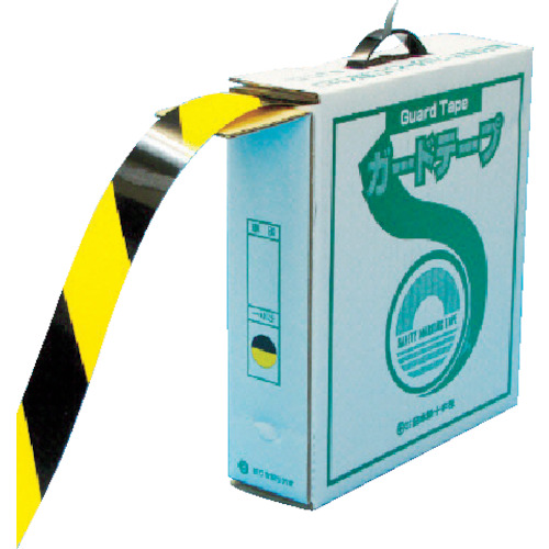 緑十字 GTH-501TR 再剥離タイプ 50mm幅×100m 黄・黒色【149036】 販売単位:1巻(入り数:-)JAN[4932134130369](緑十字 ラインテープ) (株)日本緑十字社【05P03Dec16】