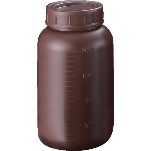 サンプラ PE広口遮光瓶 2L【2914】 販売単位:1箱(入り数:30本)JAN[4560277212569](サンプラ ビン) (株)サンプラテック【05P03Dec16】