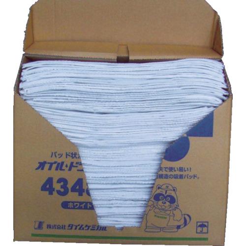 TC オイルドライパッド(43cm×48cm×100枚) ホワイト【4348N】 販売単位:1箱(入り数:100枚)JAN[4545268203047](TC 吸収材) (株)タイムケミカル【05P03Dec16】