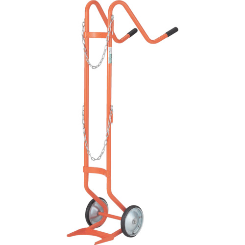 TRUSCO ボンベ台車 二輪型 酸素用ボンベ一本積用【HT63N】 販売単位:1台(入り数:-)JAN[4989999681857](TRUSCO 二輪運搬車) トラスコ中山(株)【05P03Dec16】