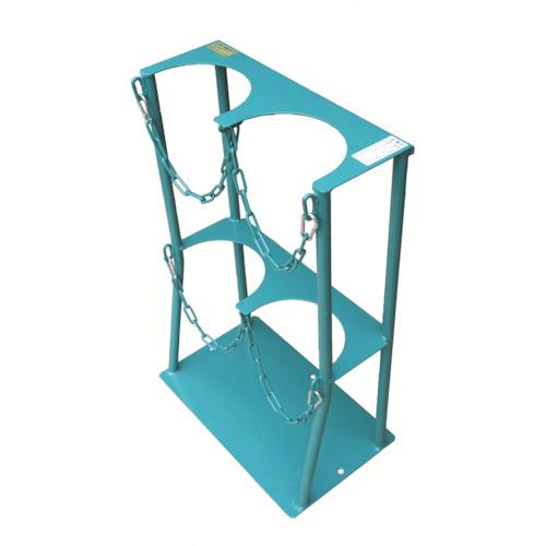 KS ボンベスタンド 1500L容器二本用【KS15002】 販売単位:1台(入り数:-)JAN[-](KS 一輪車・リヤカー) カミマル(株)【05P03Dec16】
