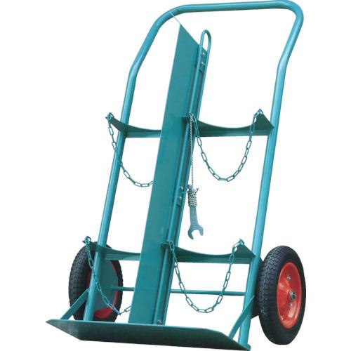 KS ボンベ運搬車(仕切板付) 酸素7000L容器、アセチレン7.0kg容器用【KSCOMPACTP】 販売単位:1台(入り数:-)JAN[-](KS 二輪運搬車) カミマル(株)【05P03Dec16】