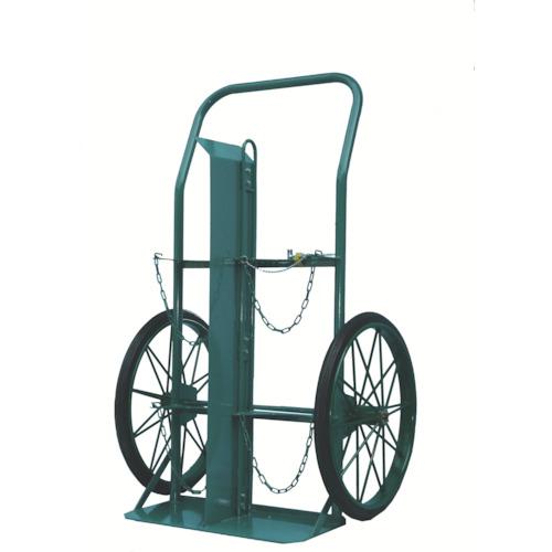 KS ボンベ運搬車(大車輪型)酸素7000L容器、アセチレン7.0kg容器用【KUO】 販売単位:1台(入り数:-)JAN[-](KS 二輪運搬車) カミマル(株)【05P03Dec16】
