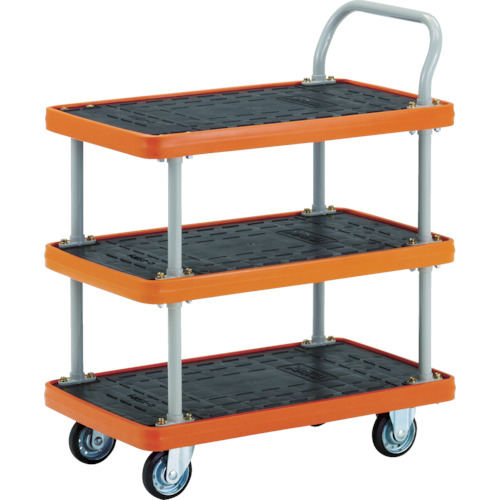TRUSCO MKP樹脂製台車 2段式 906×616【MKP304】 販売単位:1台(入り数:-)JAN[-](TRUSCO 樹脂製運搬車) トラスコ中山(株)【05P03Dec16】