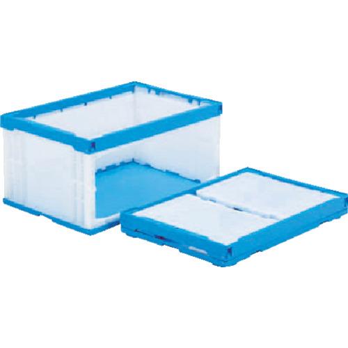 サンコー オリコンラックP75B-D(長側扉なし) ブルー/ホワイト【SKORP75BDBLWH】 販売単位:1個(入り数:-)JAN[4983049470156](サンコー 折りたたみコンテナ) 三甲(株)【05P03Dec16】