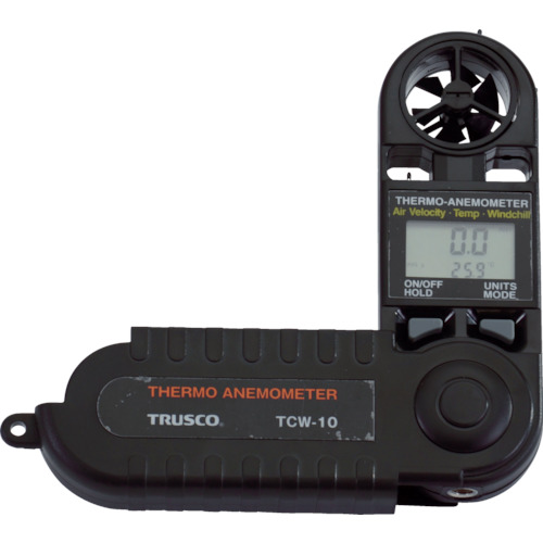在庫品 TRUSCO テスタ TCW-10 商品番号:4150945 折りたたみ式風速計 TCW10 販売単位:1個 入り数:- JAN 数量限定 環境測定器 トラスコ中山 株 05P03Dec16 出群 4989999197280