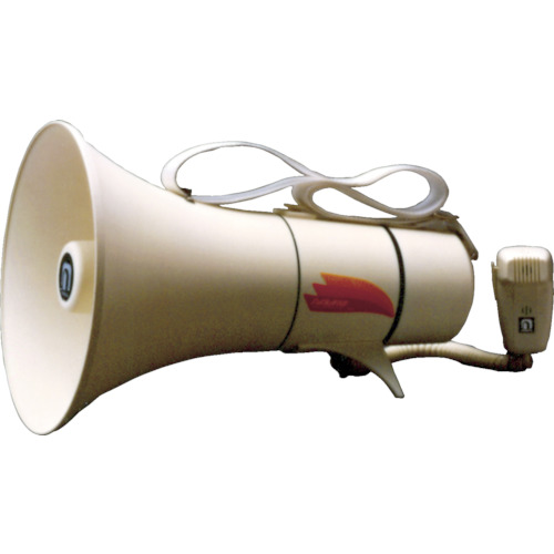 ノボル ショルダータイプメガホン13Wホイッスル音付き(電池別売)【TM208】 販売単位:1台(入り数:-)JAN[4543853000101](ノボル 拡声器) (株)ノボル電機製作所【05P03Dec16】