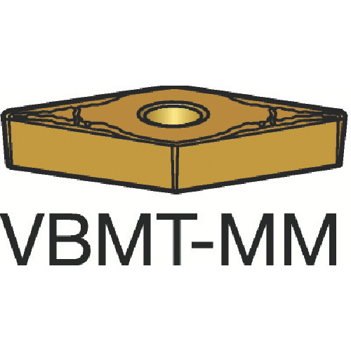 サンドビック コロターン107 旋削用ポジ・チップ 1115【VBMT160408MM(1115)】 販売単位:10個(入り数:-)JAN[-](サンドビック チップ) サンドビック(株)【05P03Dec16】