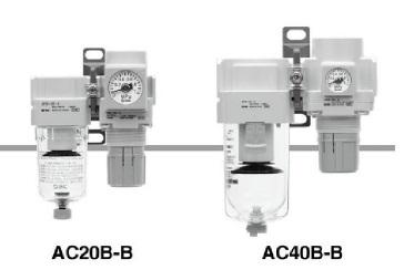 SMC AC-Bシリーズ エアフィルタ + レギュレータ [AC40B-04D-6-B](SMC)【05P03Dec16】