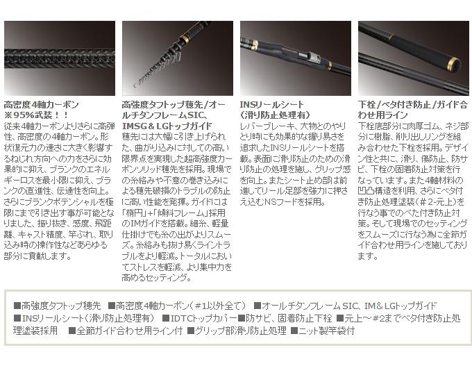 宇崎日新ZEROSUM海岸弹X4 TYPE 1(5305)/海岸竿子/鱼竿/钓竿/海滨垂钓/零萨姆/NISSIN/NISSIN