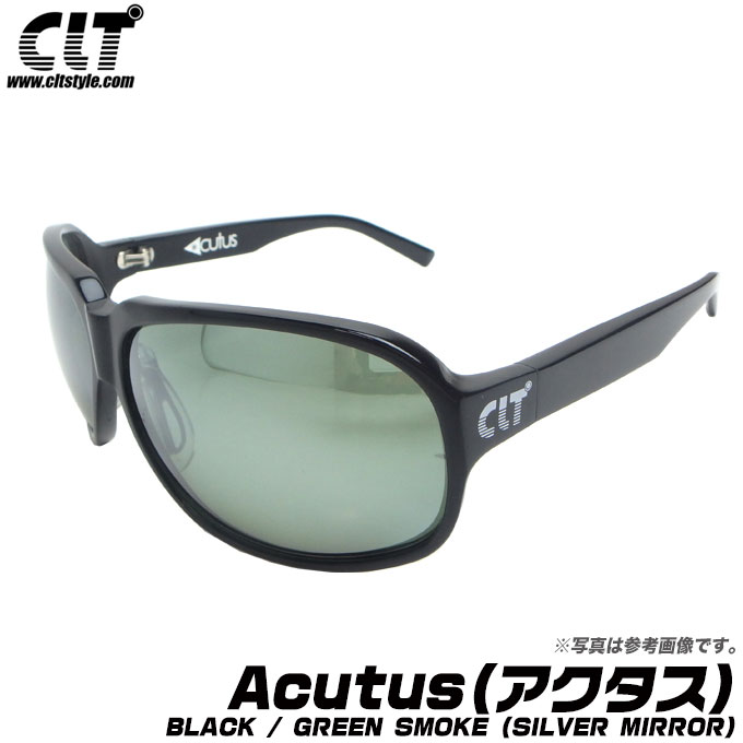 (5)【送料無料】 CLT Acutus (アクタス) [BLACK / GREEN SMOKE (SILVER MIRROR)] /偏光グラス/サングラス/ファッション/ゴルフ/自転車/アウトドア/ドライブ/釣り/ブラック/グリーンスモーク シルバーミラー/