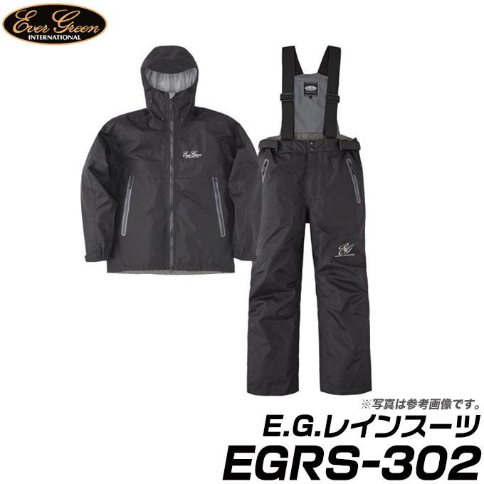 (9)【取り寄せ商品】 エバーグリーン E.G.レインスーツ (EGRS-302) (カラー:ブラック/ブラック) (サイズ:S-3L) /Ever Green