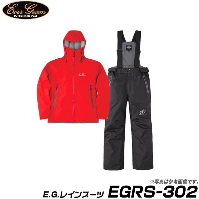 (9)【取り寄せ商品】 エバーグリーン E.G.レインスーツ (EGRS-302) (カラー:レッド/ブラック) (サイズ:S-3L) /Ever Green