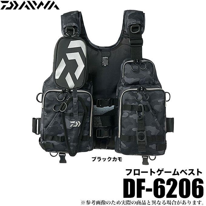 (5)ダイワ フロートゲームベスト (DF-6206)(カラー:ブラックカモ)(サイズ:フリー) /ゲームベスト/シーバス/ヒラスズキ/ロックショア/ソルトルアー/1s6a1l7e-wear