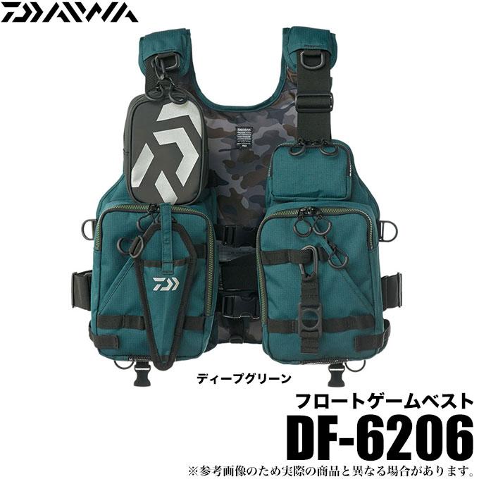 (5)ダイワ フロートゲームベスト (DF-6206)(カラー:ディープグリーン)(サイズ:フリー) /ゲームベスト/シーバス/ヒラスズキ/ロックショア/ソルトルアー/1s6a1l7e-wear