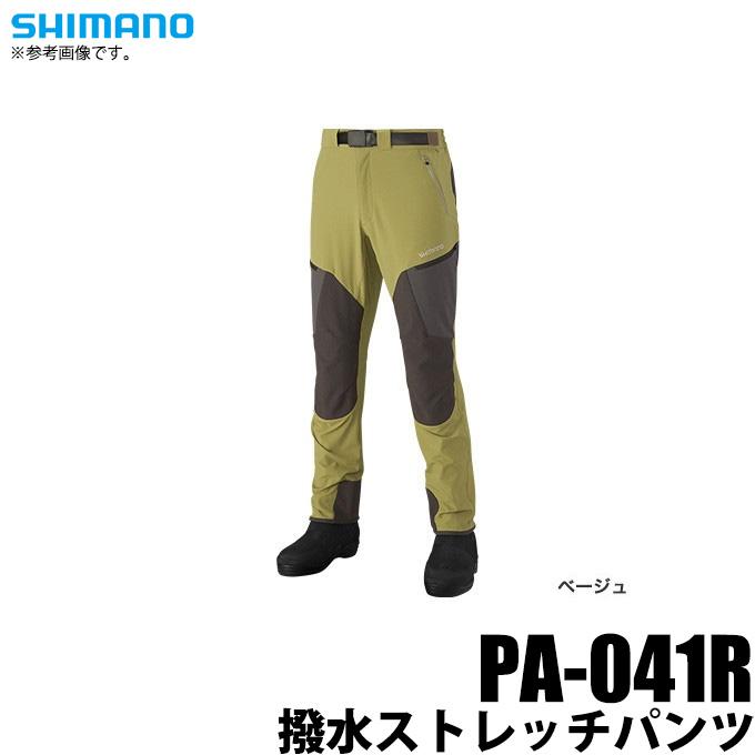 (5) シマノ 撥水ストレッチパンツ (PA-041R) (カラー:ベージュ) (サイズ:M-XL) /2019年追加モデル/SHIMANO /1s6a1l7e-wear