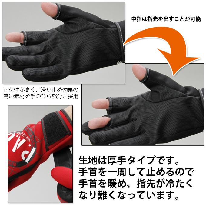 (5) 可柳丁藍色水液體氧氯丁橡膠手套[WRGL-F2315]/防寒/釣魚/手套/釣魚手套/貓Point Of Sales