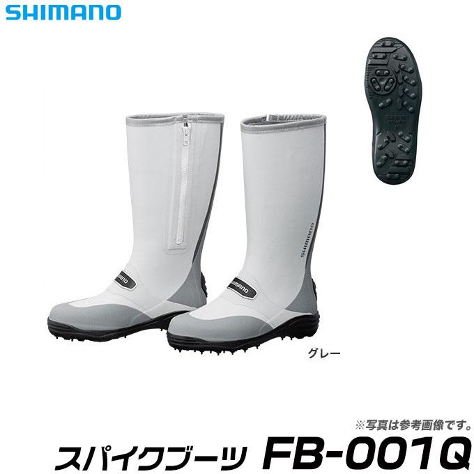 (9)【取り寄せ商品】シマノ スパイクブーツ (FB-001Q)(カラー:グレー)/長靴/ブーツ/フットウェア/SHIMANO/2017年モデル