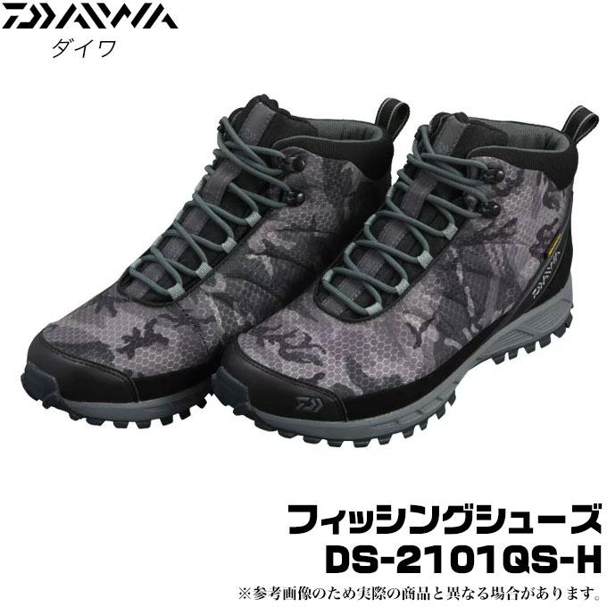 (c)【取り寄せ商品】 ダイワ フィッシングシューズ (DS-2101QS-H) (カラー:グレーカモ) (キュービックスパイクソール) /磯靴/DAIWA FISHING SHOES/d1p9