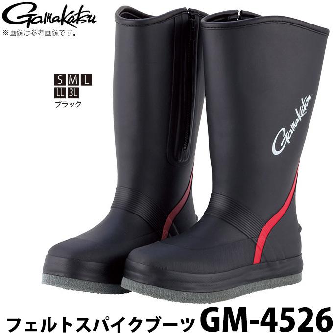 (c)【取り寄せ商品】 がまかつ フェルトスパイクブーツ (GM-4526) (カラー:ブラック) /2018年モデル /1s6a1l7e-wear
