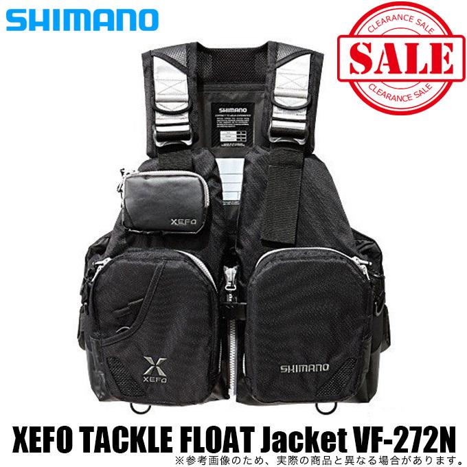(5)【目玉商品】シマノ XEFO タックル フロート ジャケット (ベーシック) VF-272N カラー:ブラック サイズ:フリー /ゲームベスト/フローティングベスト/ライフジャケット/ / 1s6a1l7e-f-best / 1s6a1l7e-wear