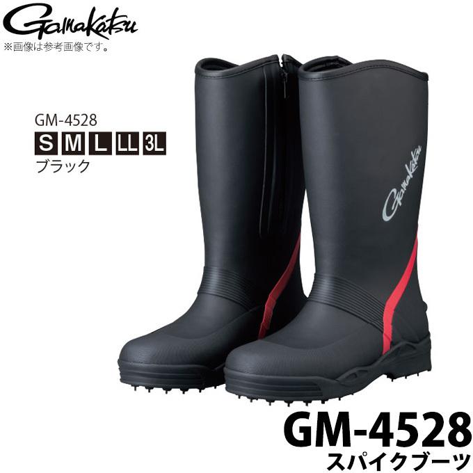 Gamakatsu 今季も再入荷 フィッシング 釣り ウエア ウェア シューズ おすすめ特集 ブーツ c がまかつ GM-4528 1s6a1l7e-wear カラー:ブラック スパイクブーツ 取り寄せ商品 2019年モデル