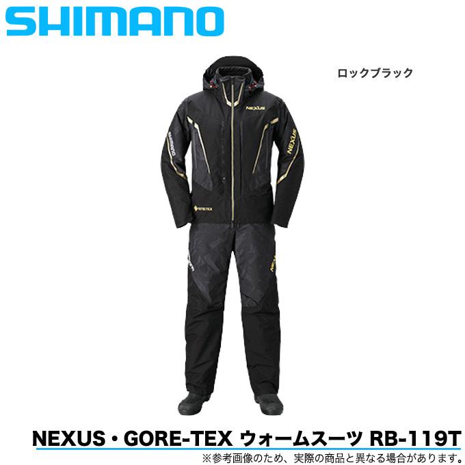 (5)シマノ ネクサス ゴアテックス ウォームスーツ RB-119T カラー:ロックブラック (防寒着/上下セット/ウェア) 2020年秋冬モデル