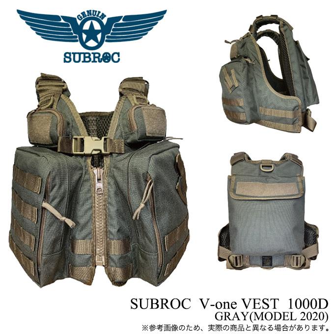 (5)東邦産業 サブロック V-one VEST 1000D (カラー:グレー/GRAY) /ゲ-ムベスト/フローティングベスト/ライフジャケット/ /ヴィーワンベスト