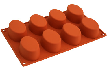 Silicon (訳ありセール 格安) mold ITA シリコンフレックスオーバル 型 8取 激安卸販売新品 シリコン